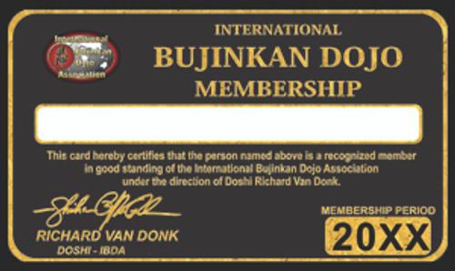MEMBERSHIP IBDA International Bujinkan Dojo Association