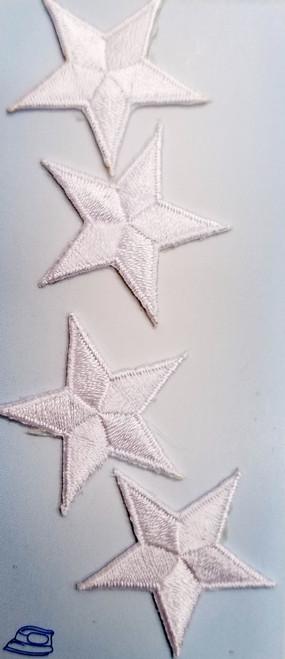 WHITE UNIFORM STARS