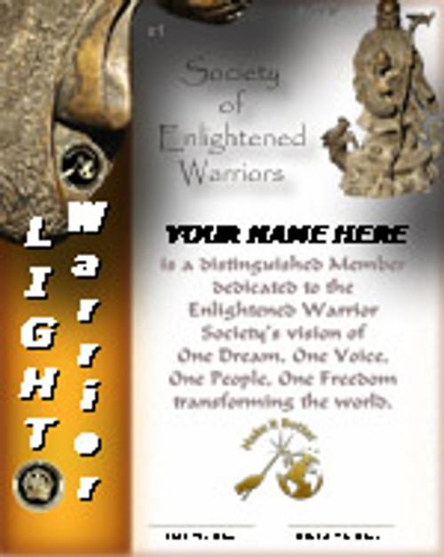 LIGHT WARRIOR MEMBERSHP WTIH COIN