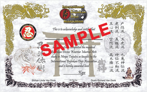 REPLACEMENT - KYU CERTIFICATE