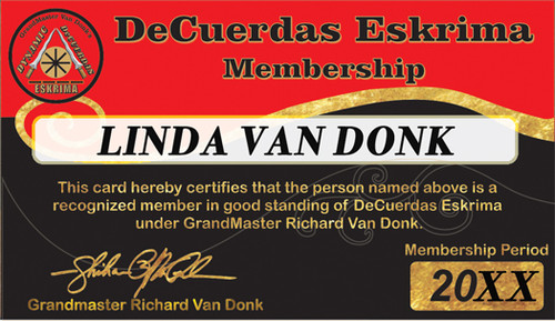 MEMBERSHIP - DeCuerdas Eskrima Association