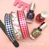Pair our manicure ribbon with these fun ginghams to make a really special package for the manicurist who keeps your hands and feet looking great!