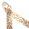 """Pasta of all descriptions tossed on 1.5"""" white single face satin ribbon is a wonderful addition to your craft stash for wreath making, gift baskets, craft and scrapbooking projects."""