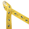 """Buzzing bees in black and white printed on a yellow honeycomb background printed on 1.5"""" grosgrain ribbon is the perfect ribbon for hair bows, fascinators, craft projects, sewing projects and gifting! Be sure to have this adorable ribbon on hand for all your creative ideas!"""