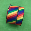 """Our rainbow stripes in primary colors come in two sizes for your crafting projects large and small. We offer this grosgrain ribbon in 1.5"""" and 7/8"""" widths."""