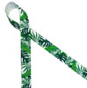 """Palm fronds printed on 7/8"""" white grosgrain ribbon is perfect for all your tropical themed parties, events and soirees all year round. Be sure to have this ribbon on hand for all your creative crafting projects. Our ribbon is designed and printed in the USA"""