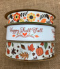 Mix and match Happy Fall Ya'll with our Boho floral and Fall leaves for a beautiful selection of Fall themed ribbons for your creative moments!