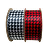 """Mix and match our 1.5"""" satin houndstooth patterns in red or white for your Holiday packages!"""