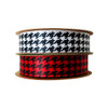 "Mix and match our 1.5"" houndstooth ribbons in red and white for a fun Holiday theme package!"