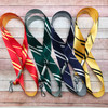 Harry Potter value pack of four ribbon lanyards one each representing the houses Slytherin, Hufflepuff, Gryffindor and Ravenclaw. This is the perfect gift for any Harry Potter fan!
