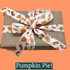 Our pumpkin pie ribbon makes for such a beautiful Fall gift! It only takes some plain brown paper to make a very special gift!