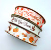 Mix and match our Thanksgiving ribbons with this pumpkin pie ribbon for a beautiful Thanksgiving theme!