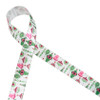 """Vintage ornaments in pink and green printed on 7/8"""" white single face satin ribbon is an ideal ribbon for gifts, wreaths, trees, floral arrangements and Christmas crafts! Make the Christmas table beautiful in pastels with this old fashioned design. All our ribbon is designed and printed in the USA"""