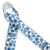 """Our beautiful Chinoiserie style  ginger jar blue and white floral pattern printed on 1.5"""" white single face satin ribbon is ideal for elegant gift wrap, floral design, wreaths and  interior design accents. Be sure to have this classic beauty on hand for all your creative ideas! All our ribbon is designed and printed in the USA"""