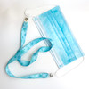 """Frozen theme snowflakes Face mask holder lanyard 24"""" long  with vinyl  snap fittings printed on 5/8"""" Ultra Lanyard fabric"""