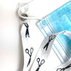 Close up of the attachment ends show how easy it is to keep your mask safe and close!