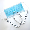 Attach the simple snap on both of the face mask loops and simply slip over the head to never lose track of your mask!