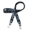 """24"""" mask holder with soft plastic snap closures printed with our Musical Notes  design printed on both sides on  5/8"""" Ultra Lanyard material is  perfect for adults to keep track of face masks at  work, school, sports practice, lunch and break time."""