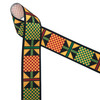 "Ankara Kente African design in traditional colors of yellow, green, red and black printed on 1.5"" white grosgrain ribbon is an ideal ribbon for hair bows, headbands, sewing projects, crafts and festivals. All our ribbons are designed and printed in the USA"