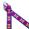 "Ankara Kente African design in traditional colors of pink, purple, blue and red printed on 1.5"" white grosgrain ribbon is an ideal ribbon for hair bows, headbands, sewing projects, crafts and festivals. All our ribbons are designed and printed in the USA"
