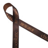 """Chocolate lovers will delight in our For the Love of Chocolate ribbon printed on 7/8"""" dijon gold single face satin ribbon. This is the ideal ribbon for chocolatiers, candy shops, candy makers and Valentine's Day. Be sure to have this ribbon on hand for craft and quilting projects too! All our ribbon is designed and printed in the USA"""