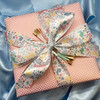 An elegant easter gift tied with our beautiful pastel bunnies. Any Easter brunch hostess would love this special gift!