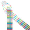 """Our fun Spring plaid in pink, blue, yellow and green printed on 1.5"""" white single face satin ribbon is perfect for all your Spring projects. This ribbon is ideal for Easter baskets, Spring floral arrangements, Easter Brunch, Spring wreaths, sewing and quilting projects. All our ribbon id designed and printed in the USA"""
