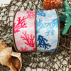 Our coral reef ribbon is offered in two colors!