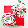 """Our candy ribbon on 1.5"""" white single face satin ties a perfect bow!"""