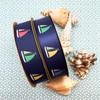 "Sailboat ribbon for, seaside, lake side,   beach theme, nautical, gift wrap, quilts, printed on 7/8"" white satin, 10 yards"