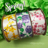 Our Spring floral ribbons are perfect together or on their own!