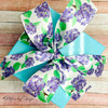 Make a beautiful bow on a perfect Summer gift with our beautiful hydrangea ribbon!