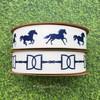 Pair the galloping horse ribbon with the snaffle bit grosgrain ribbon for a beautiful bow combination!