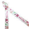 """Happy Mother's Day in pink with pink, rose gold and sage florals printed on 7/8"""" white single face satin ribbon is the ideal ribbon for a Mother's Day celebration! This ribbon is perfect for gift, wrap, floral design, table decor, sweets tables and fun crafts! Be sure to have  this ribbon on hand for Mom's special day! Our ribbon is designed and printed in the USA"""