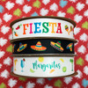 Mix and match our Fiesta ribbon with sombreros and margaritas ribbons to complete the party theme!