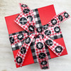 Mix and match our barbecue grill ribbon with black and white gingham for a fun gift wrap look!