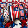 Mix and match all our patriotic ribbons for the ideal red white and blue American celebrations!