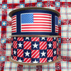 Mix and match our American flag ribbon with our Patriotic patchwork for a true red, white and blue  celebration!