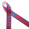 """Stars and stripes in a check pattern printed on 1.5"""" white single face satin makes for a wonderful Patriotic ribbon. This ribbon is ideal for 4th of July celebrations, Memorial Day, Labor Day and Veterans Day. Be sure to have this ribbon on hand for wreaths, party decor, gift wrap, hat bands and quilting projects! All our ribbon is designed and printed in the USA"""
