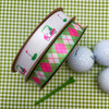Mix and match our ladies golf carts with pink and green argyle for a beautiful Mother's Day or golf tournament gift!
