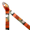 """Pumpkins and gourds in orange, green and white on a brown background printed on 7/8"""" white single face satin ribbon is perfect for all your Fall decorating needs. This is a fun ribbon for gift wrap, wreaths, party decor, interior decor, floral design and quilting projects. Be sure to have this ribbon on hand for the Thanksgiving table too! All our ribbons are designed and printed in the USA"""