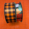 """Mix and match this ribbon with our 1.5"""" brown and tangerine gingham check ribbon for fun Fall wreaths!"""