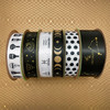 Mix and match any of our black and white and gold ribbons for party decor, gift wrap, wreaths, sewing, quilting and craft projects!