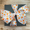 Our candy corn ribbon ties such a pretty bow for gift wrap and hair bows!