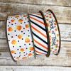 Mix and match our candy corn ribbon with Halloween stripes and Trick or Treat ribbon for a fun Halloween decor package!