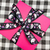 Little girl ghosts tie a pretty bow on a pink Halloween package! Perfect for any little girl goblin!