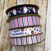 Mix and match our pastel Halloween ribbons with our girl ghosts and pink, black and white stripes for a unique Halloween holiday look!