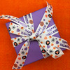 Tie a pretty bow on a Halloween gift or treat to make that gift extra special!