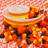 Candy corn ribbon is the perfect addition to any Halloween or Fall project!