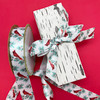 Our cardinal ribbon makes a handsome statement on a simple birch bark print wrapping paper!